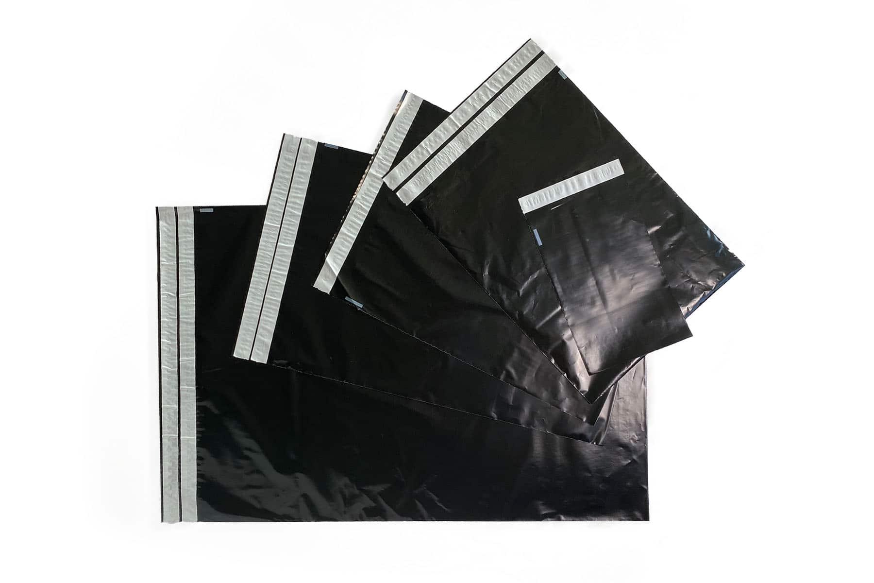 Coex verzendzakken zwart - 340 x 430mm (100 st)