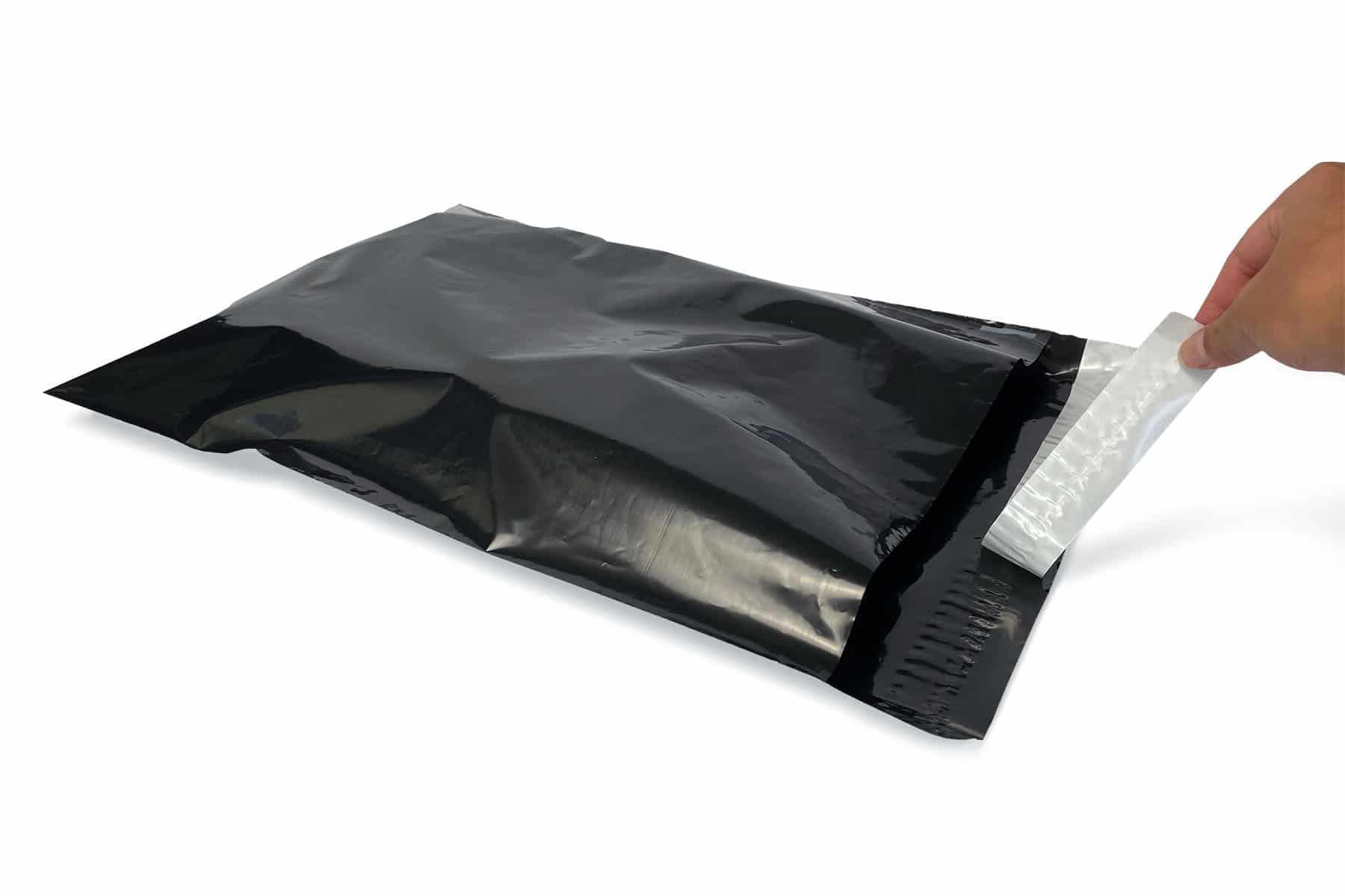 Coex verzendzakken zwart - 165 x 245mm (100 st)