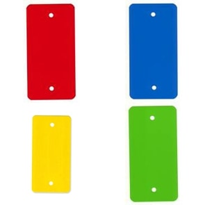 PVC kunststof labels blauw - 55 x 110mm (1.000 st)