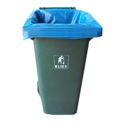 LDPE afvalzakken blauw - 65 x 25 x 140cm x 70my