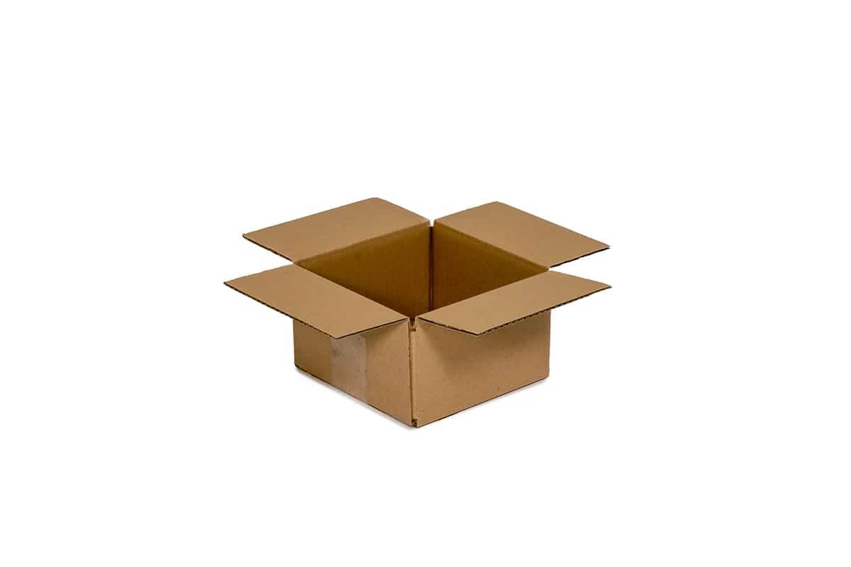 Kartonnen doos - 160 x 160 x 90mm (enkele golf)