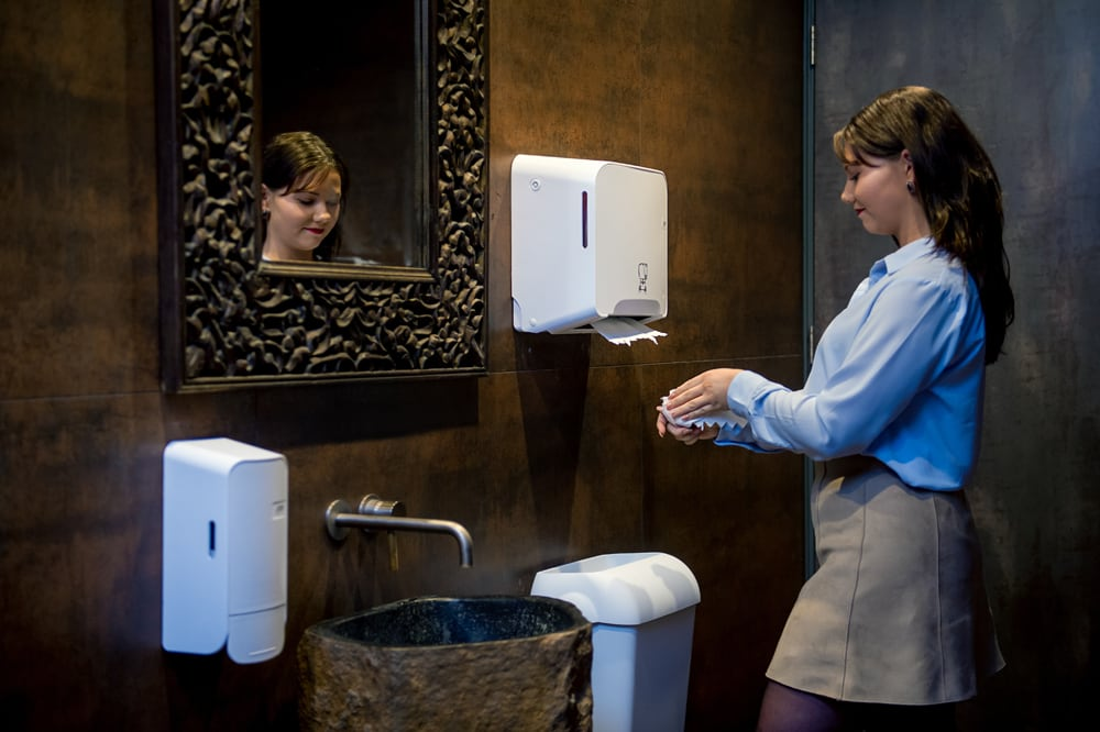 Quartz foam zeepdispenser 1000ml wit - drukknop