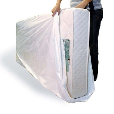 Plastic matrashoezen wit 1 persoons - 2350 x 1200 x 220mm (50 st)