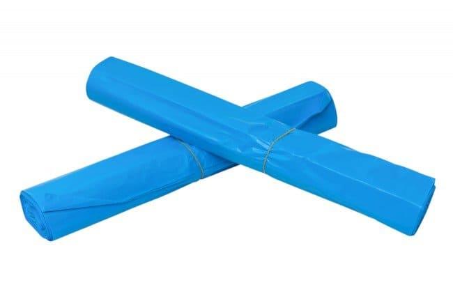 LDPE afvalzakken blauw - 70 x 110cm x 25my