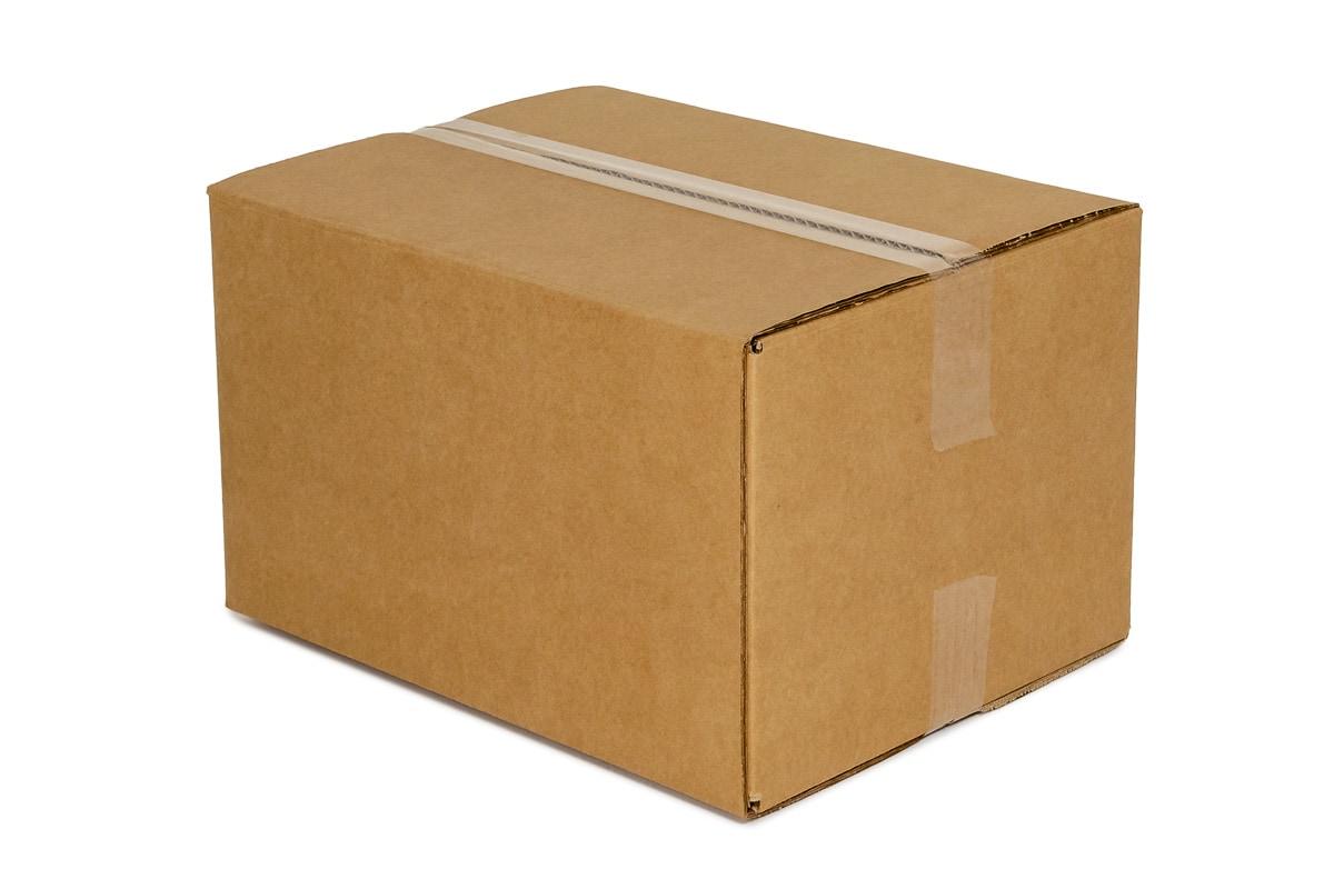 Kartonnen doos bruin - 400 x 400 x 400mm (enkele golf)