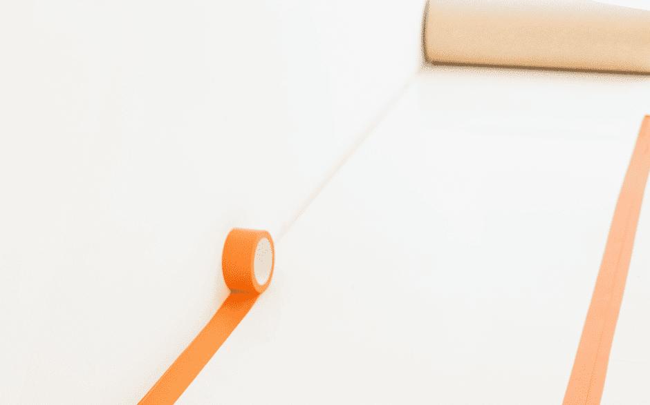 Stuclopertape removable oranje - 75mm x 33m