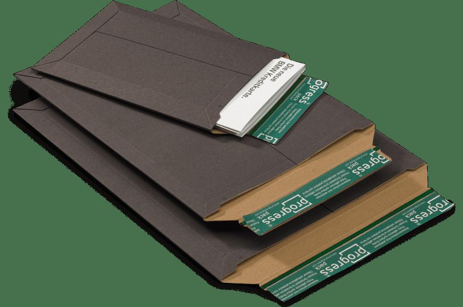 Massief kartonnen enveloppen zwart B4 - 285 x 365 x 0-30mm (100st)