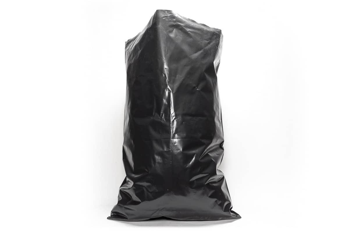 LDPE puinzakken zwart - 58 x 78cm x 140my