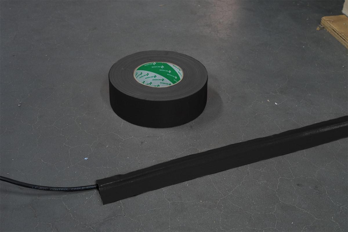 Nichiban® 1200 gaffa tape zwart - 50mm x 50m