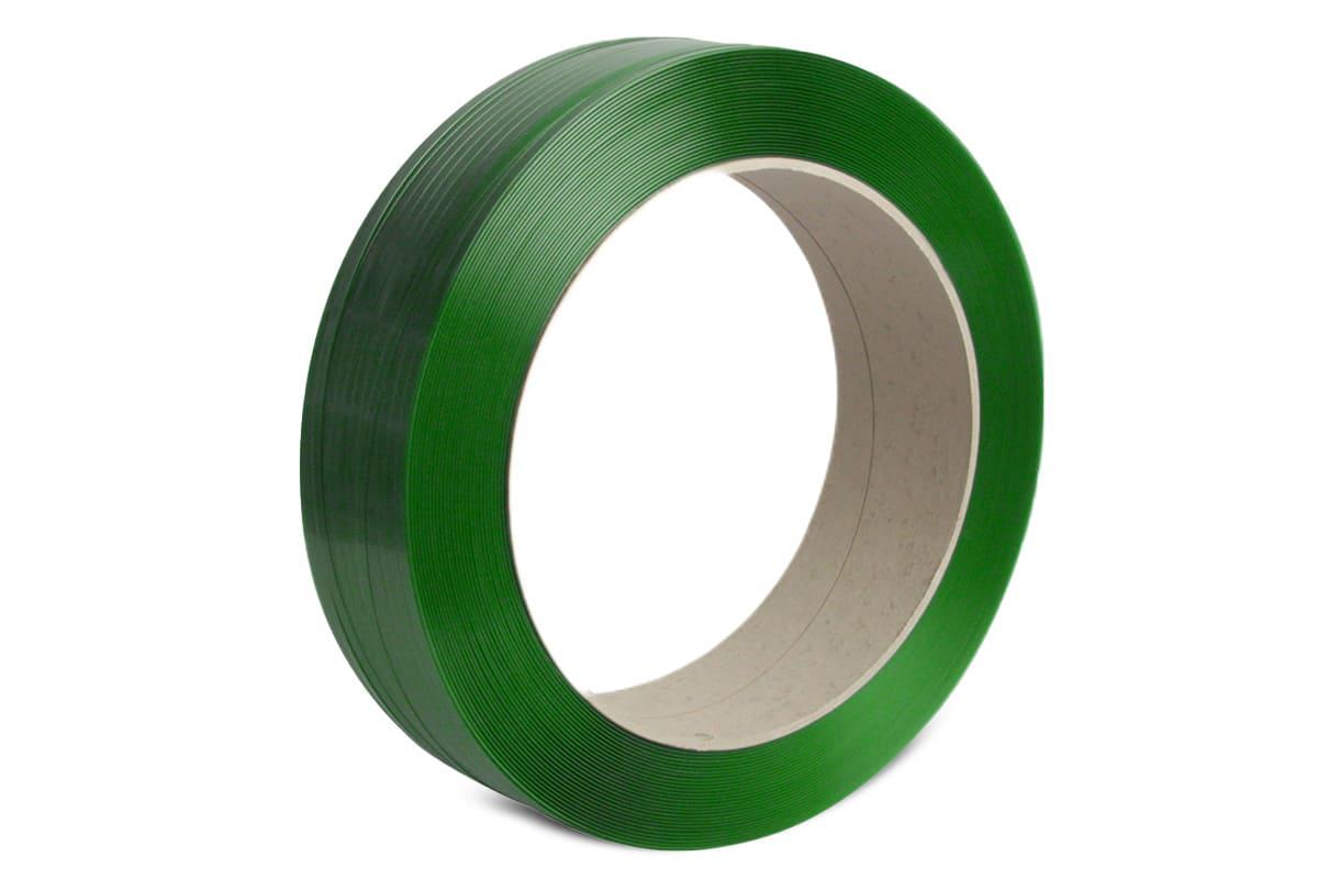 PET omsnoeringsband groen - 12,5mm x 2.000m x 0,70mm
