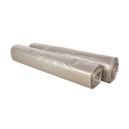 HDPE afvalzakken transparant - 50 x 55cm x 15my