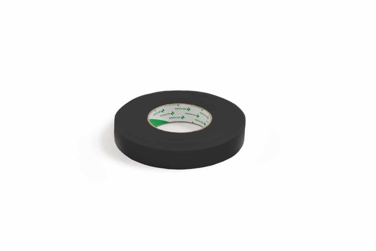 Nichiban® 1200 gaffa tape zwart - 19mm x 50m