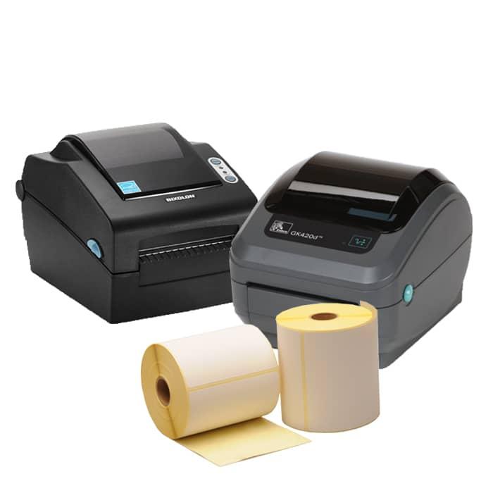 Verzendlabel set PostNL/DPD - Zebra GK420D + 12 verzendlabel rollen 102 x 150mm