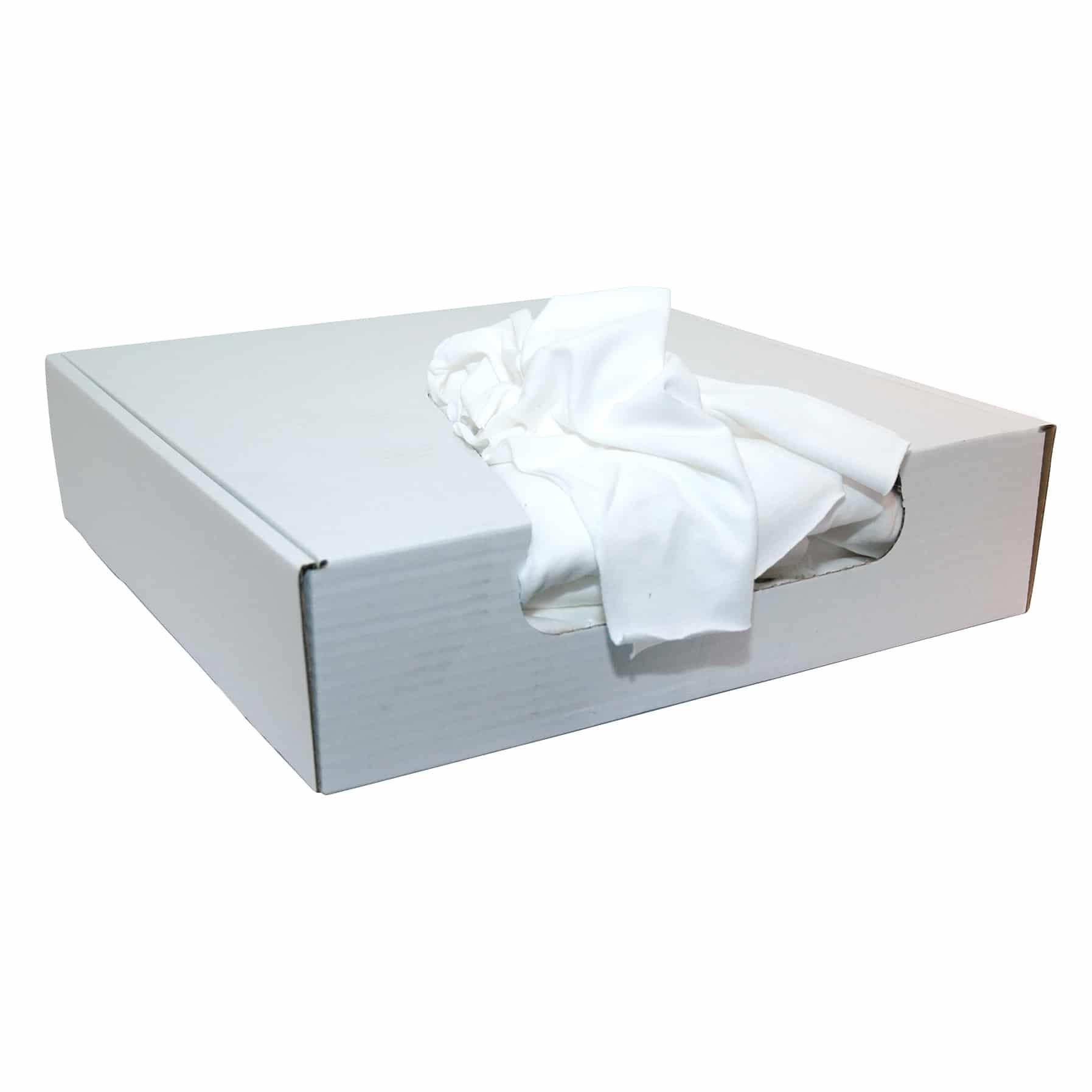 Poetsdoeken vlak wit - dispenser box 3,5 kg