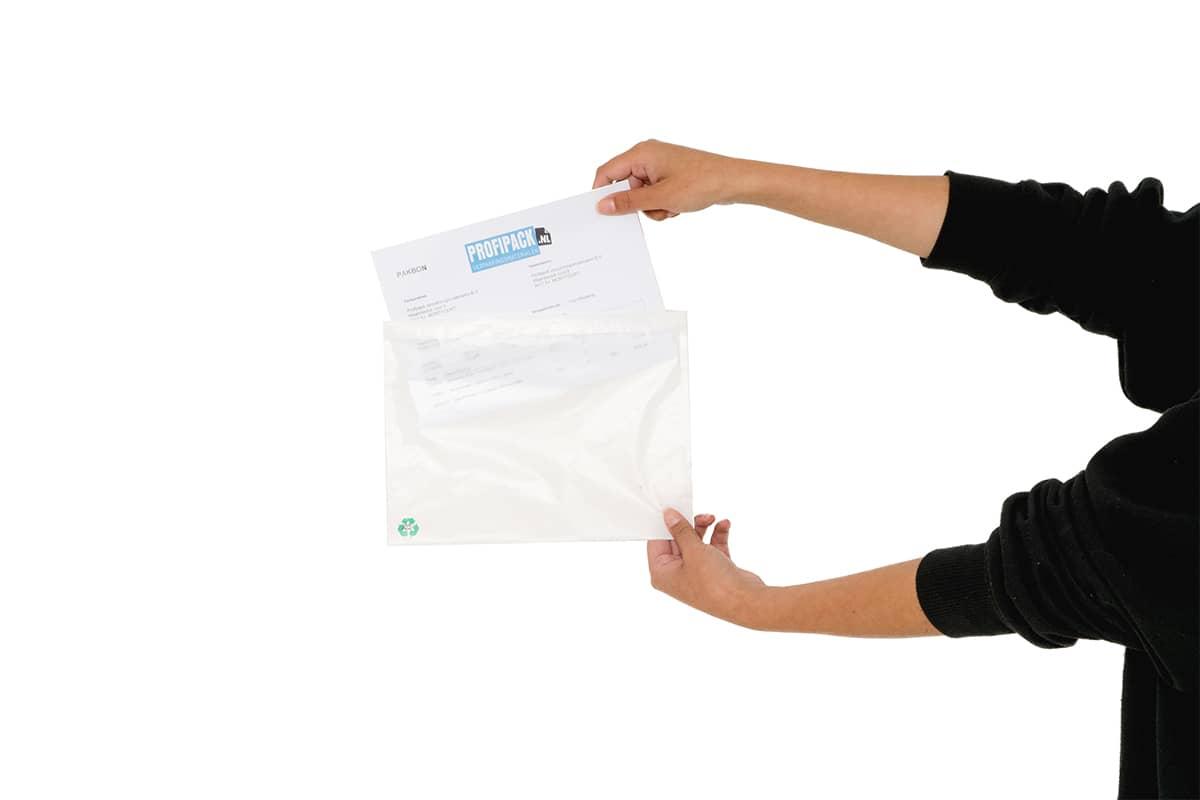 Eco papieren paklijst enveloppen blanco - 230 x 170mm (1.000 st)