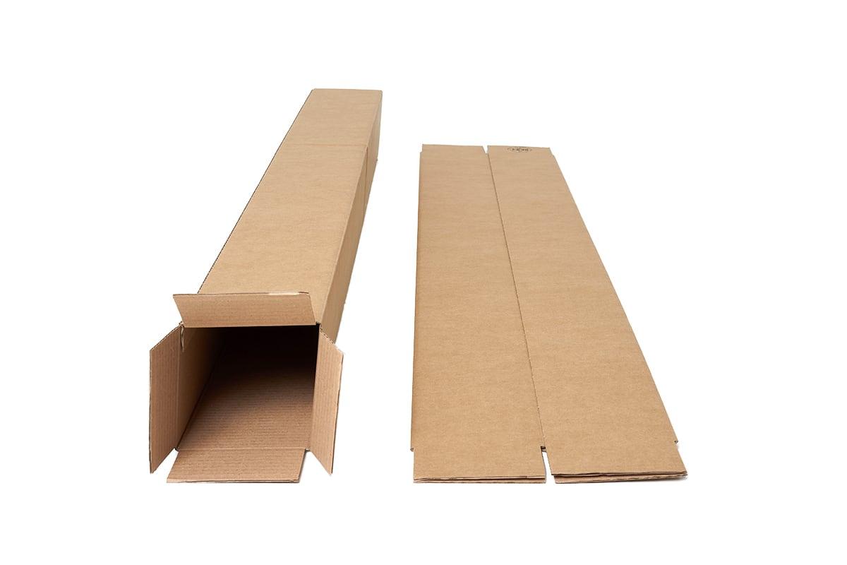 Vierkante kartonnen kokers - 920 x 140 x 140 mm (10 st)