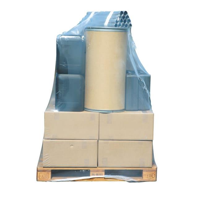 Plastic krimphoezen - 1250 x 525/525 x 2200mm x 100my