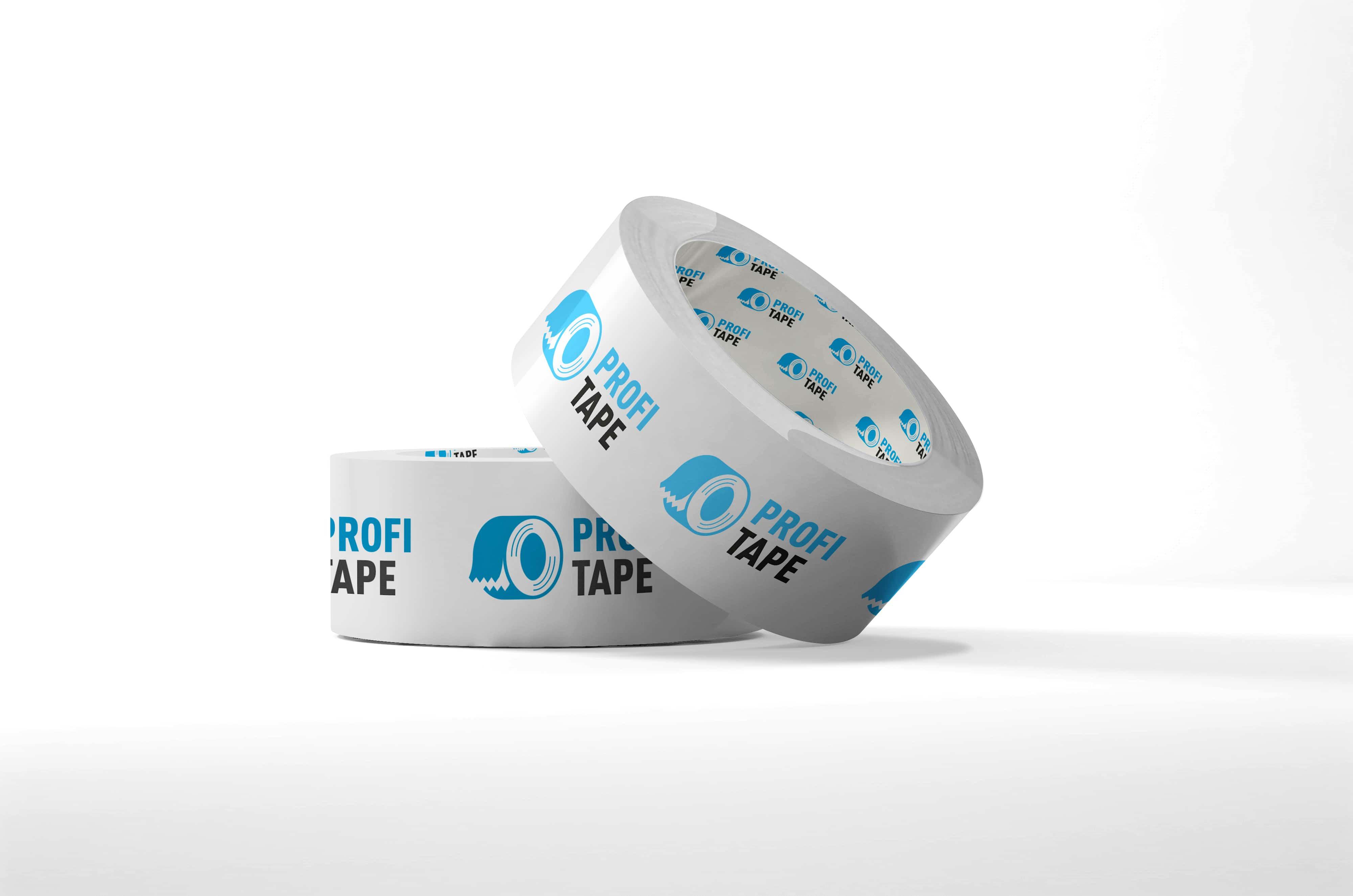 Bedrukte PP acryl tape - 50mm x 66m (2 kleuren)