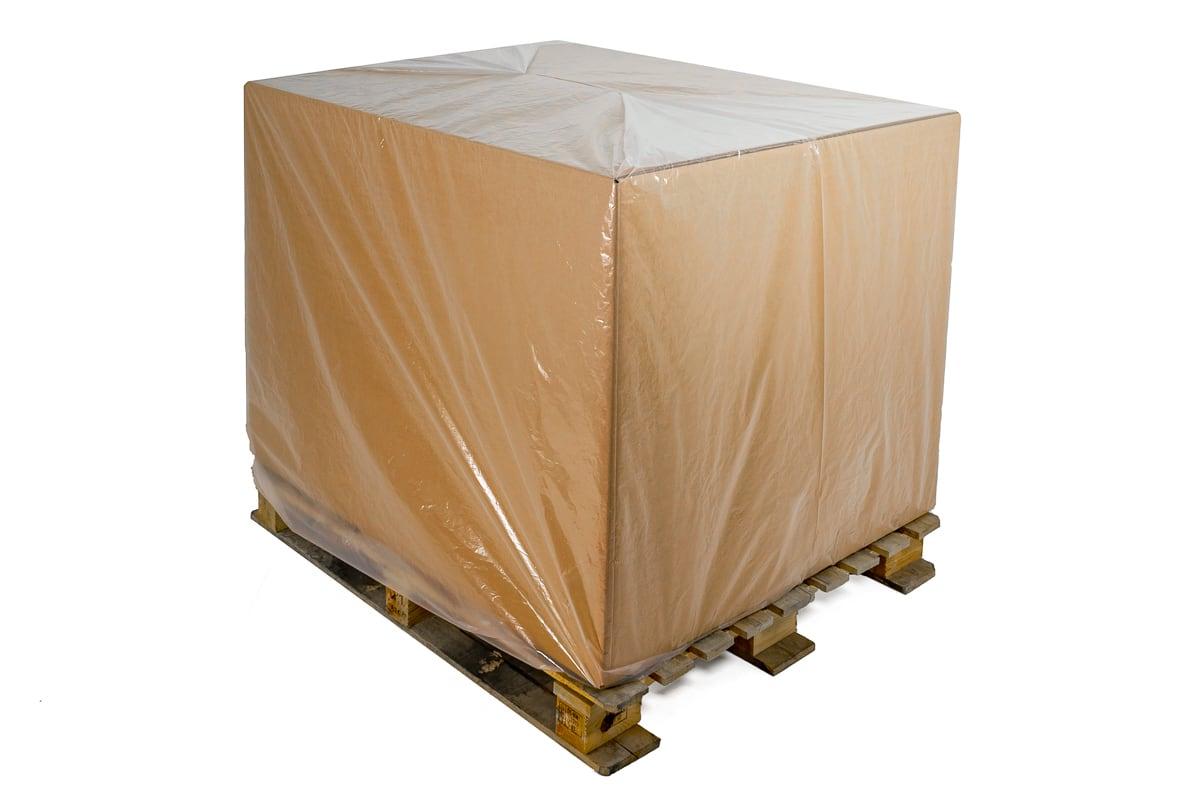 Plastic pallethoezen transparant BLOK pallet - 210cm (45 st)