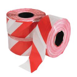 Afzetlint rood/wit - 80mm x 500m