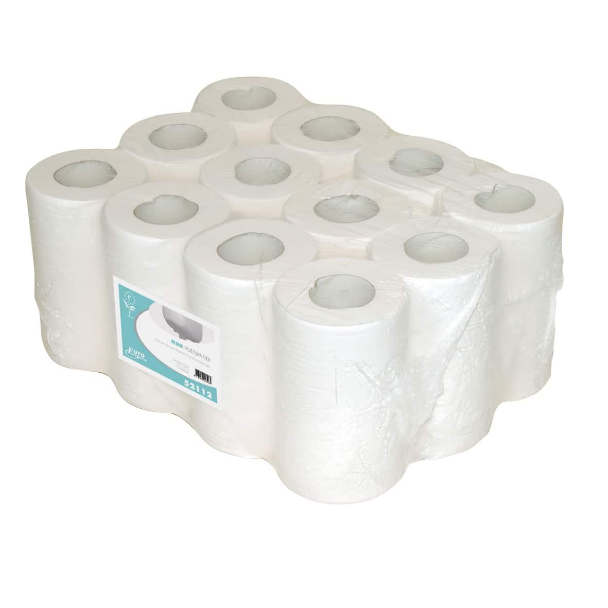 Mini poetspapier cellulose 1-laags (12 rollen)
