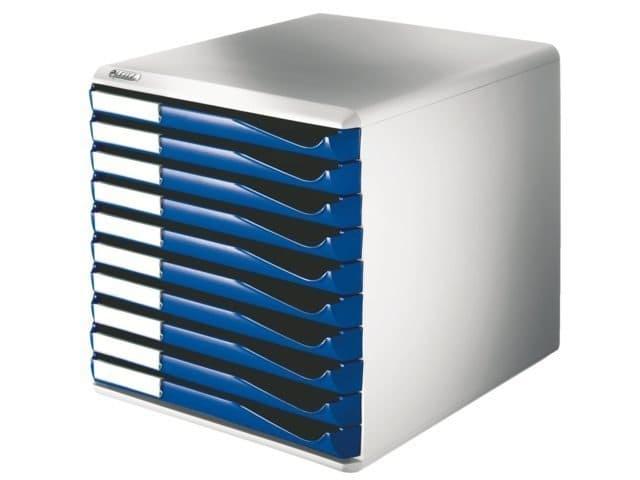 Ladenbox Leitz 5281 blauw 10 laden