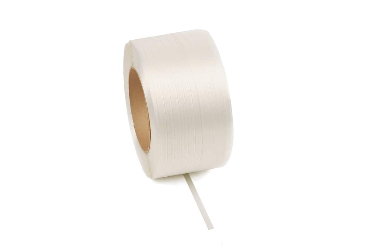Polyester composietband wit - 19mm x 600m