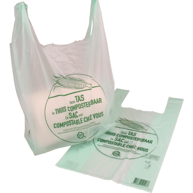 Biodore® bio-plastic hemddraagtas - 27 / 7 x 50cm (500 st)