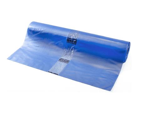 VCI vlakke folie (corrosiewerend) transparant blauw - 400cm x 50m x 100my