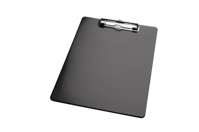 Klembord A5 zwart staand met kopklem
