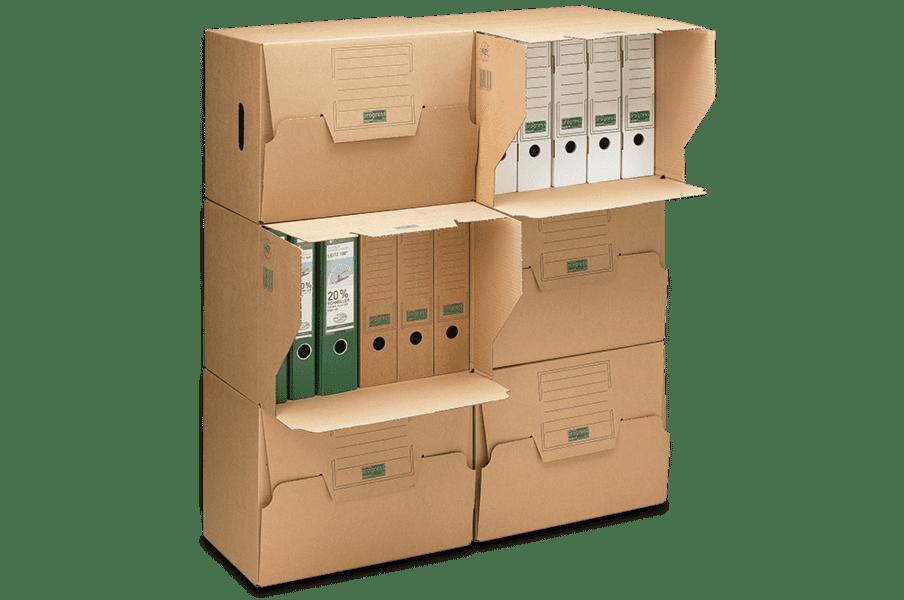 Kartonnen opbergdoos met autolock bodem - bruin (10 st)