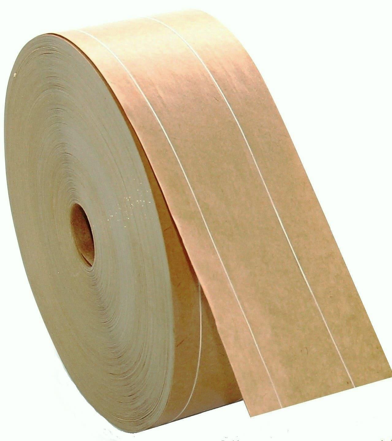 Papieren tape gegomd - 70mm x 150m - 115g/m2 - versterkt