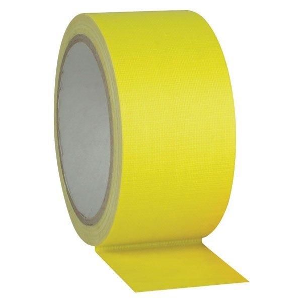 Fluor gaffa tape geel - 50mm x 25m