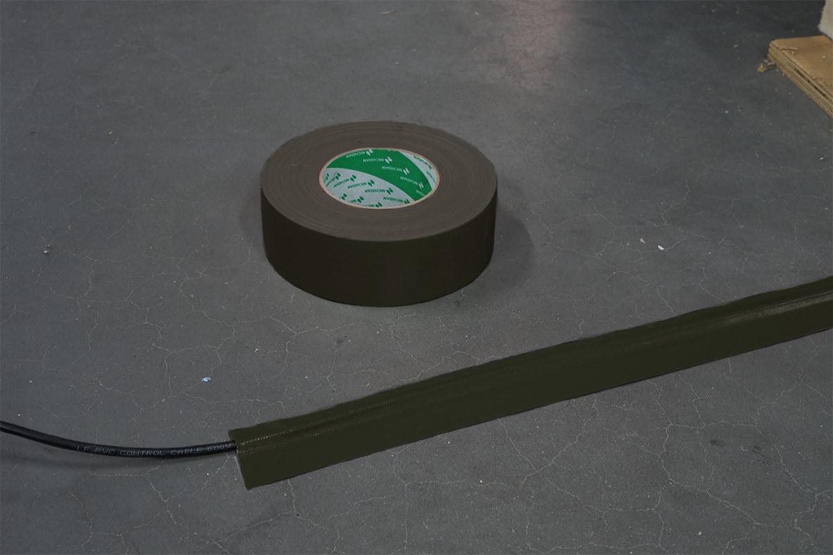 Nichiban® 1200 gaffa tape olive drab - 50mm x 50m