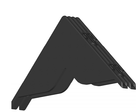 Zelfklemmende kunststof hoeken - 10/30mm (3.000 st)