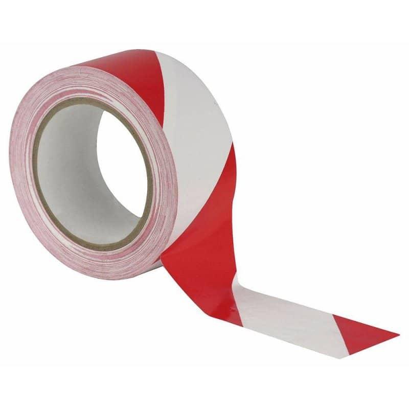 Markeringstape rood/wit - 50mm x 33m