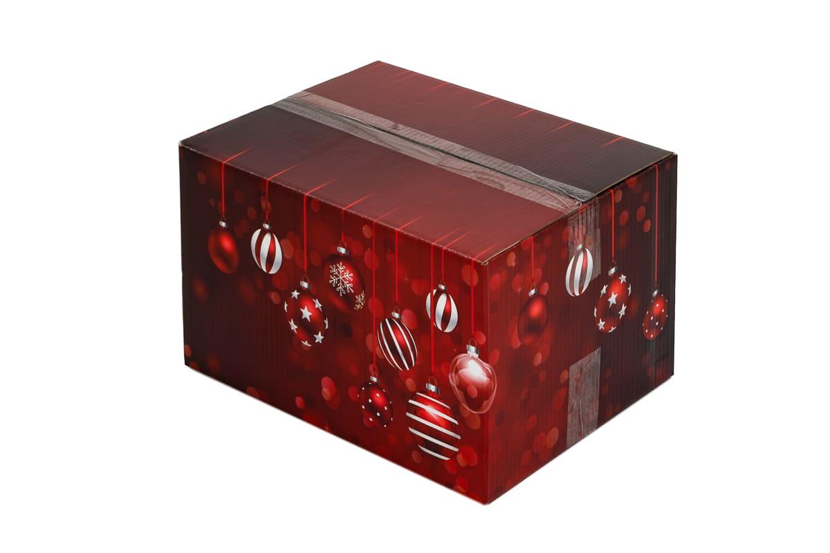Kerstdoos rood Sparkling - 450 x 350 x 230mm