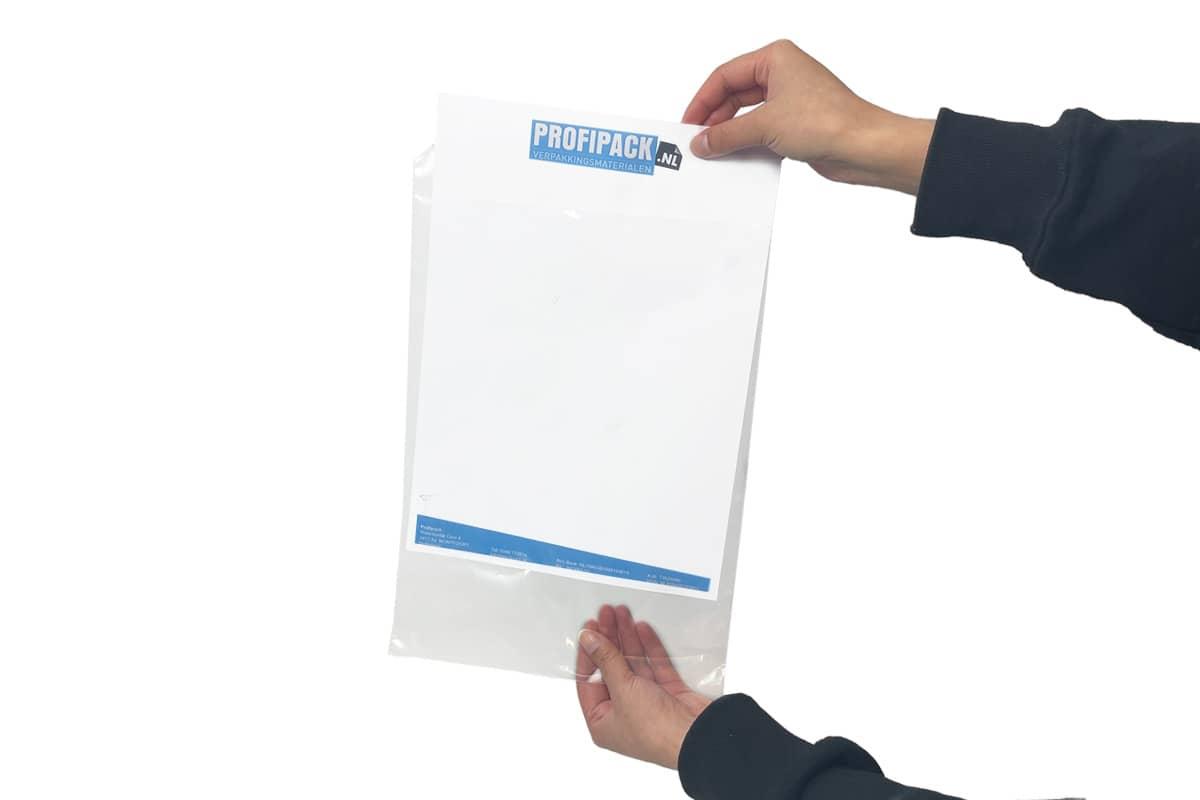 Enveloppen transparant - 350 x 450 + 50mm (1.000 st)