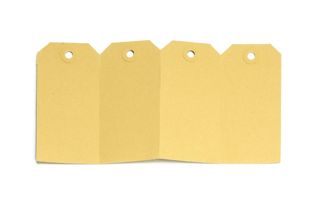 Buldog kartonnen labels - 60 x 120mm (1.000 st)