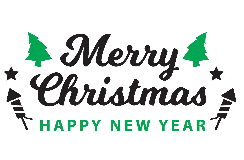 "Handwikkelfolie kerst wit ""Merry Christmas"" - 50cm x 300m x 20my"