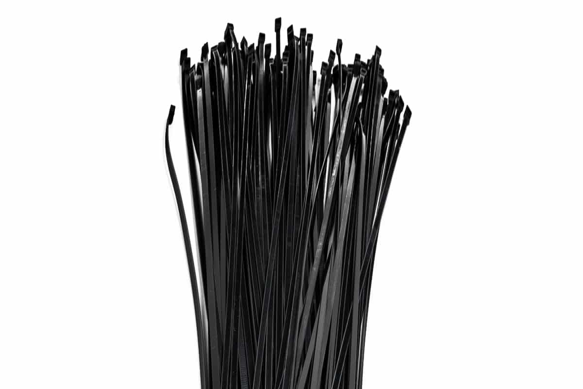 Kabelbinders zwart - 200mm x 3.6mm (100 st)