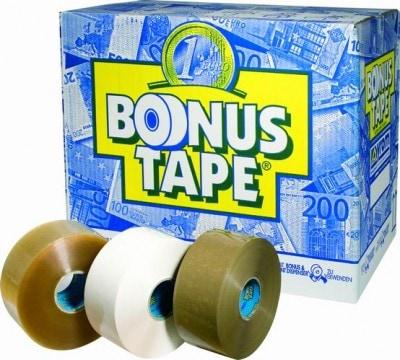 Bonus tape acryl bruin - 50mm x 200m
