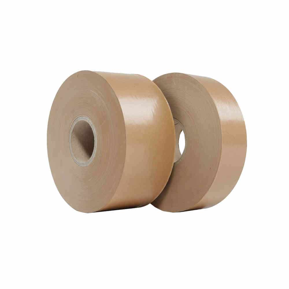 Papieren tape gegomd - 70mm x 200m - 90g/m3
