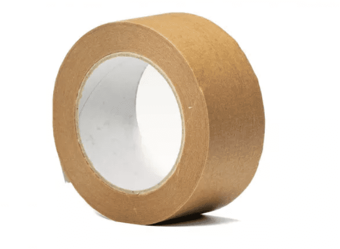 Papieren tape bruin solvent - 50mm x 50m