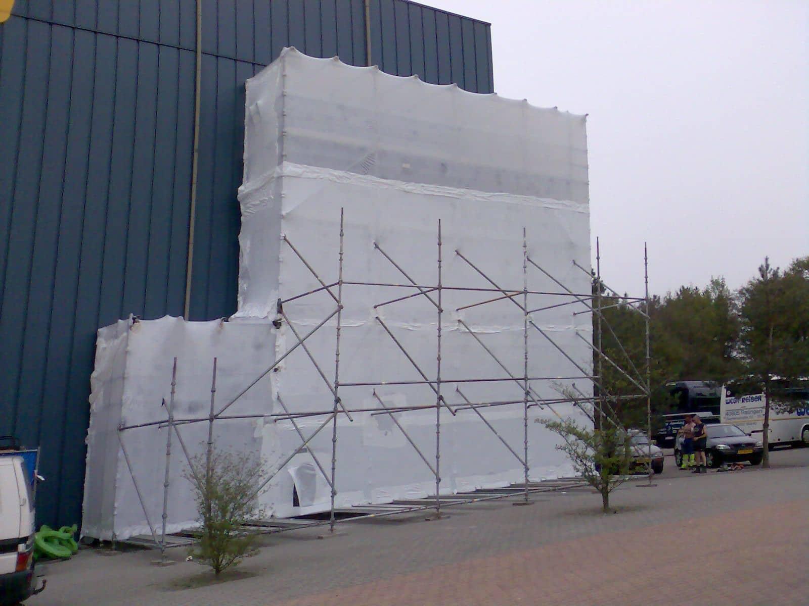 Krimpfolie wit UV (steiger) - 400cm x 25m x 300my