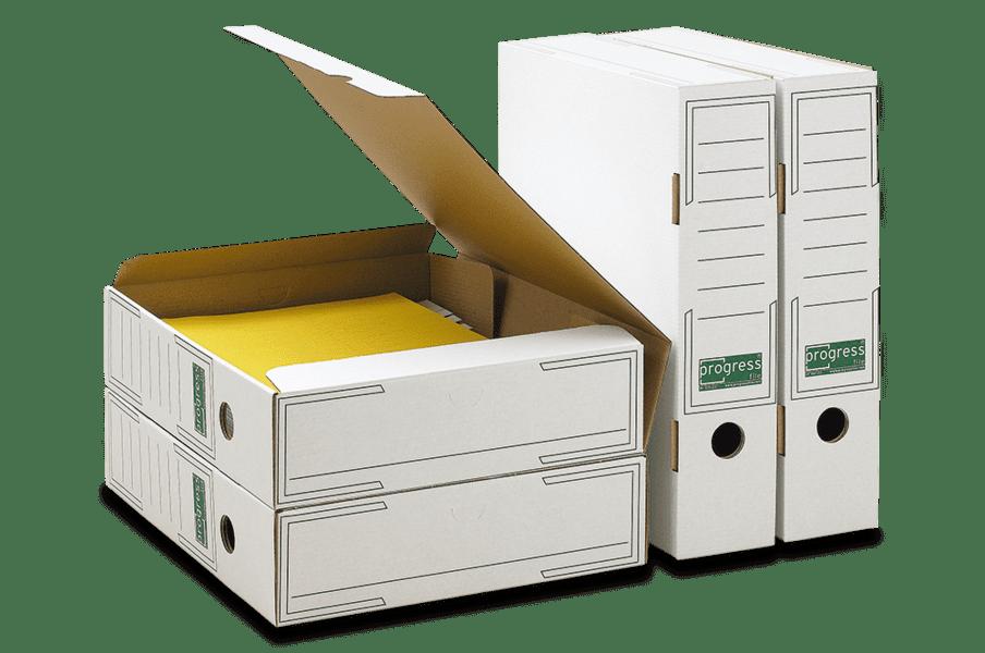 Kartonnen archiefdoos voor archiefbinder - wit (25 st)