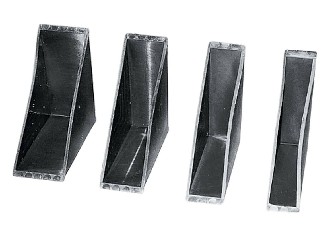 Kunststof glas beschermhoeken - 80 x 26,5 x 24mm (1.200 st)
