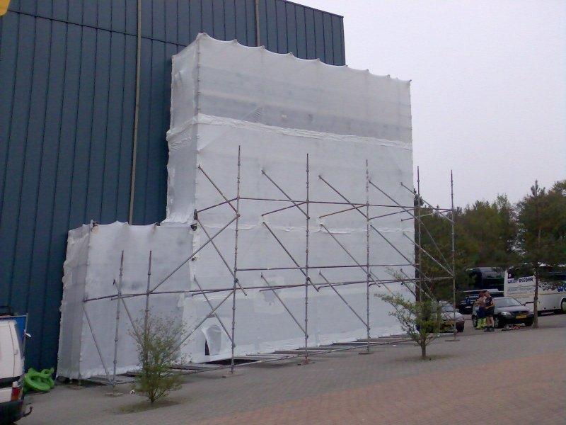 Krimpfolie wit (steiger) - 600cm x 50m x 120my