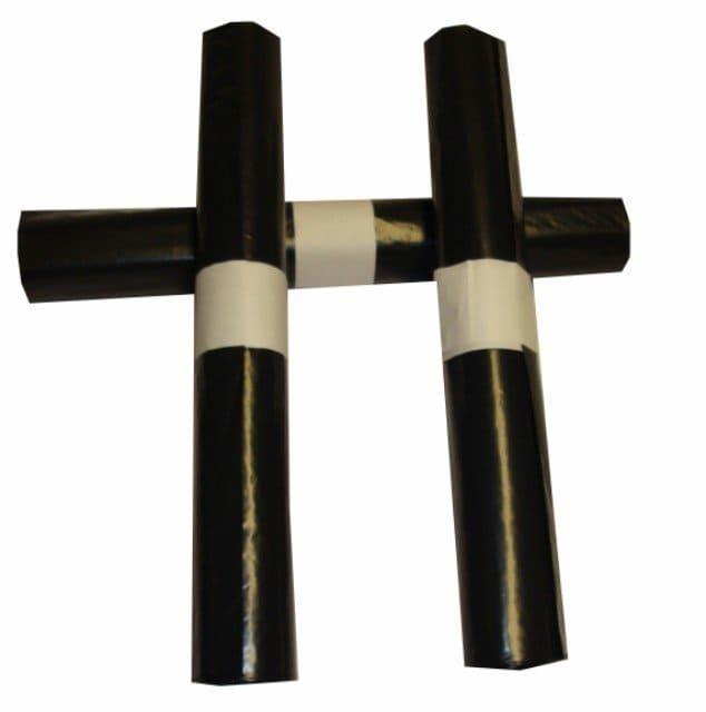 LDPE afvalzakken zwart 140 liter - 90 x 125cm x 60my