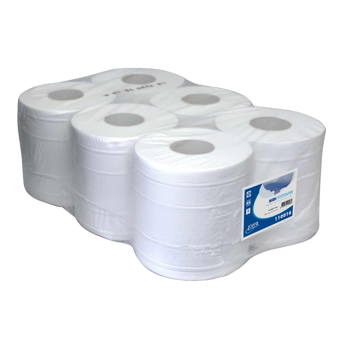 Midi poetspapier cellulose 1-laags (6 rol)